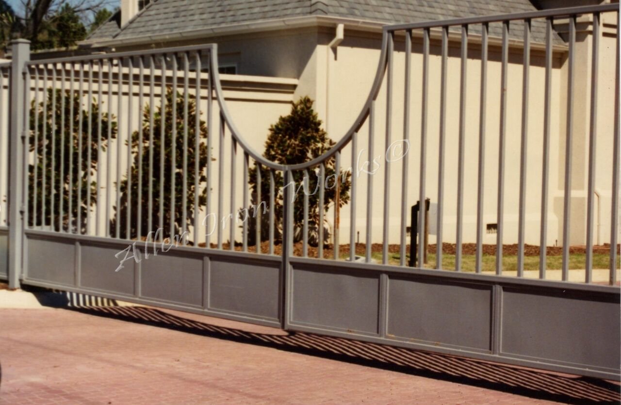 Arc Entrance Gate Birmingham Al With Solid Panel