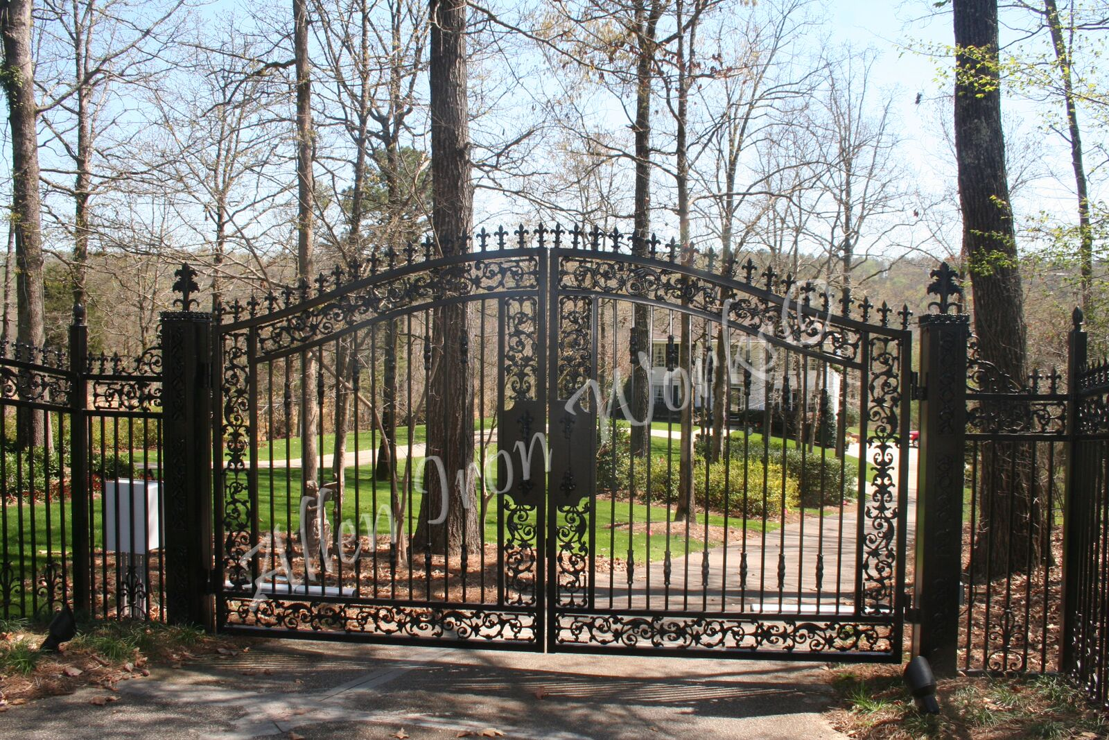 Arched Iron Driveway Gate Birmingham Al With Pontalba