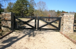 iron-driveway-entrance-gate-birmingham-alabama-with-x-design-solid-heavy-frame