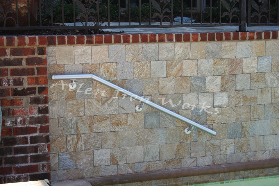 Aluminum Pipe Exterior Railing in Birmingham AL - Allen Iron Works