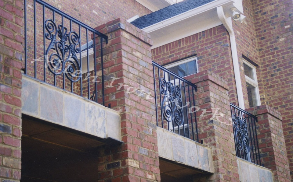 Basic Exterior Railing with Large Cast Iron Panel Birmingham AL- The Shoal