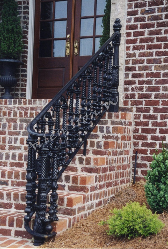 Cast Iron Exterior Railings Birmingham AL - The Tutwiler