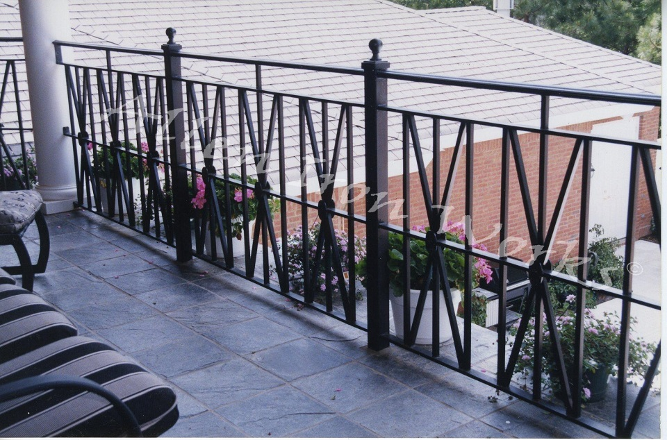 Contemporary Exterior Iron Railing Birmingham AL - The Modified X