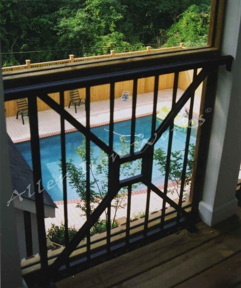 Modified X Design - Iron Exterior Railing Birmingham AL