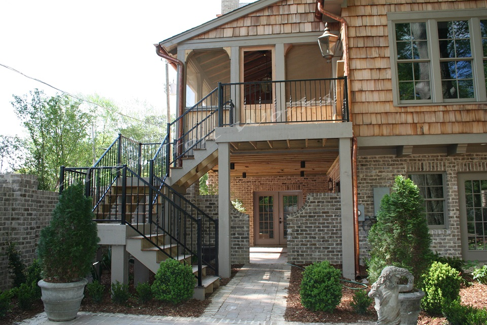 The Crest - Iron Exterior Stair Railing Birmingham AL