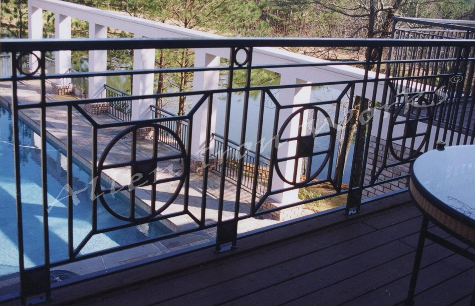 The Heatherwood - Unique Iron Exterior Railing Birmingham AL