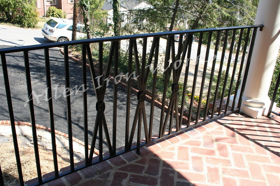 X Design Grouping in Traditional Iron Exterior Railing Birmingham AL - The Traditional X