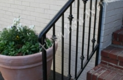 Cast Iron Double Collars Exterior Iron Railing Birmingham AL