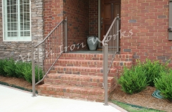 Basic Exterior Railing Birmingham AL with 2 inch square newel posts and cast iron ball finials - The Standard