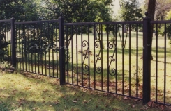 The Elm - Iron Fencing with Scrolls Birmingham AL