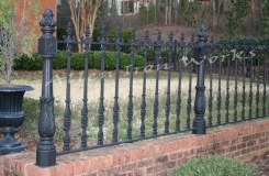 The Savannah - Upscale Residential Iron Fencing Birmingham AL