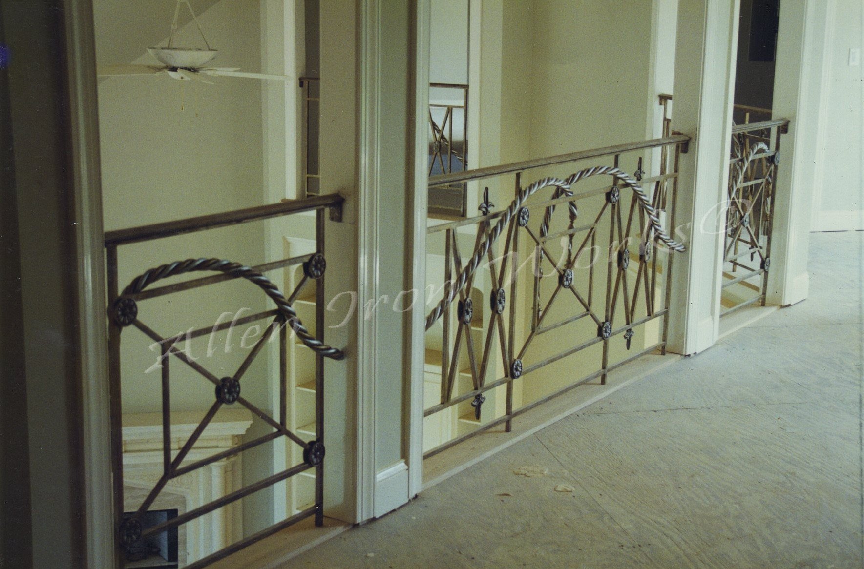 Interior railings birmingham al allen iron works for Interior iron railing designs
