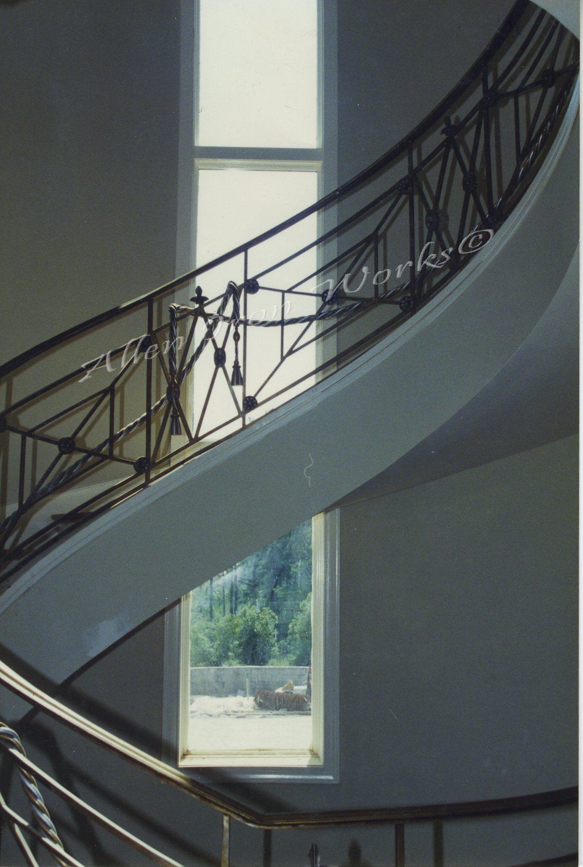 curved-interior-iron-stairway-railing-birmingham-al