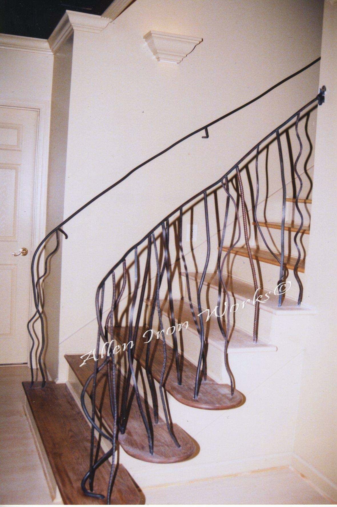 unique-free-form-style-iron-interior-stair-railing-birmingham-al