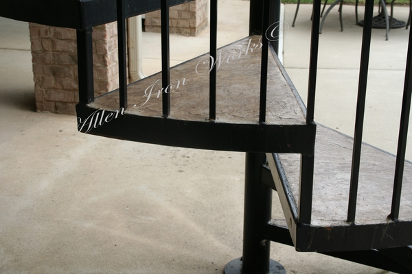 Attractive Concrete And Iron Spiral Stair Treads Birmingham AL