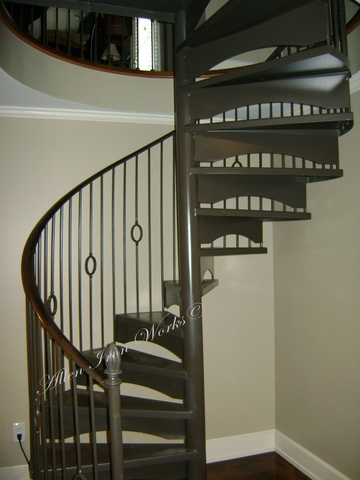 Interior Custom Steel Spiral Stair Birmingham AL