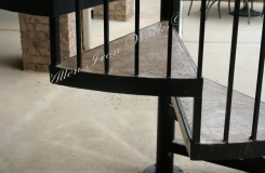Concrete and Iron Spiral Stair Treads Birmingham AL