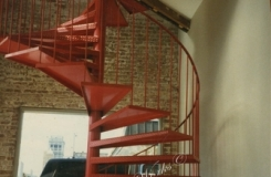 Interior Industrial Spiral Stairs Birmingham AL