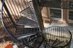 Outdoor Iron Grating Spiral Stair Birmingham AL