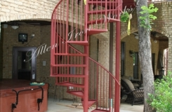 Residential Exterior Custom Metal Spiral Stairs Birmingham AL