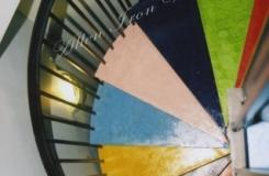Residential Metal Spiral Concrete Steps Birmingham AL