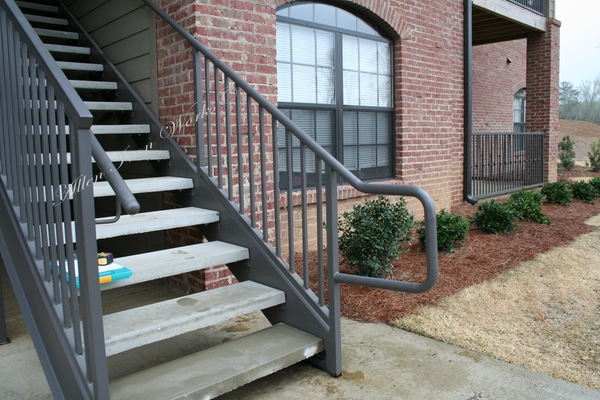 Commercial Straight Stairs with Concrete Treads - Birmingham AL