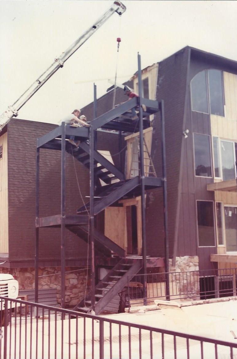 Commercial Straight Steel Stairs Birmingham AL