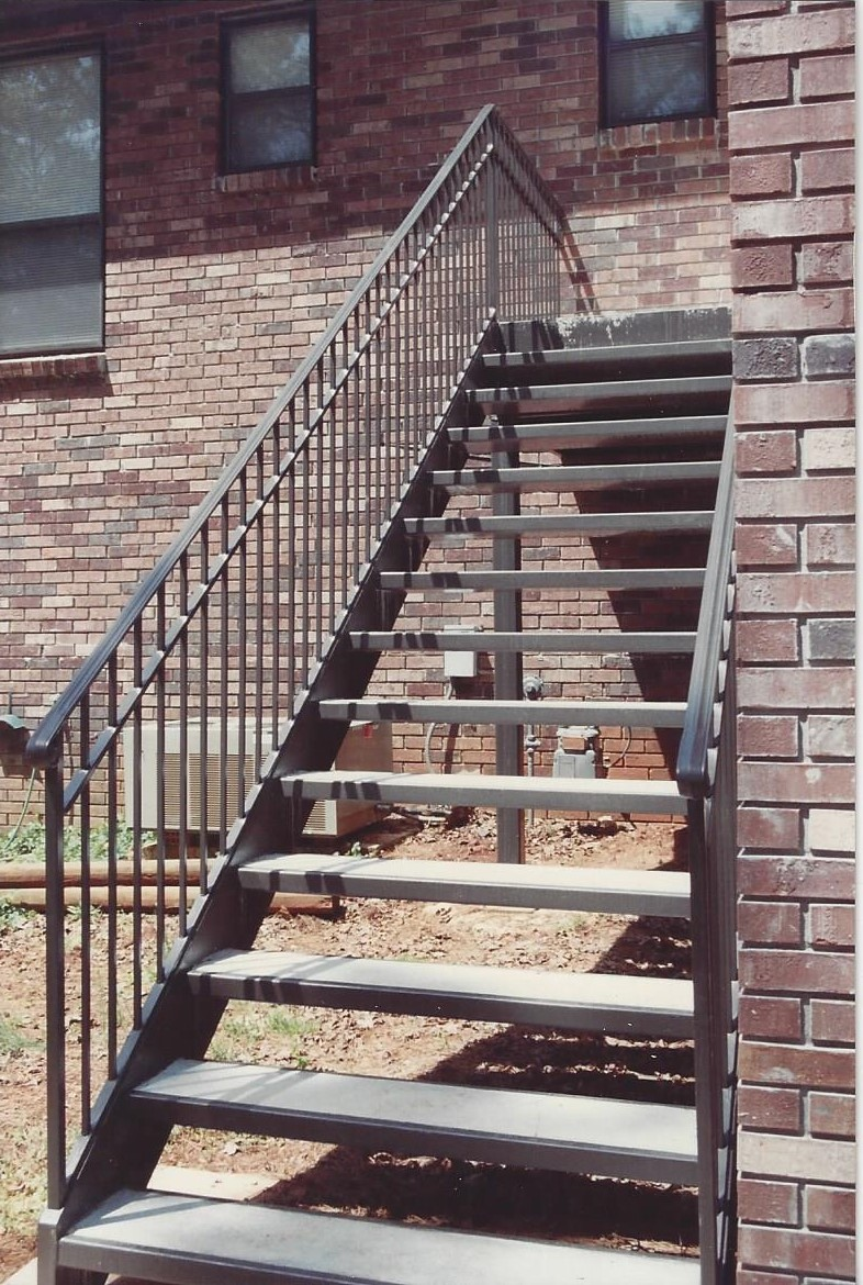 Straight Metal Stairs Birmingham AL - Allen Iron Works ...