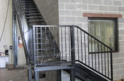 Commercial Straight Metal Stairs with Landing - Birmingham AL