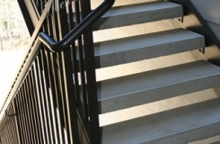 Commercial Steel Stair Concrete Treads - Straight Metal Stairs Birmingham AL