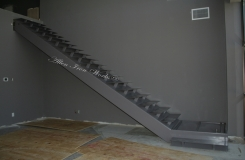 Floating Stair and Landing - Straight Metal Stairs Birmingham AL