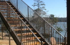 Residential Straight Stairs Wood Treads Tuscaloosa AL