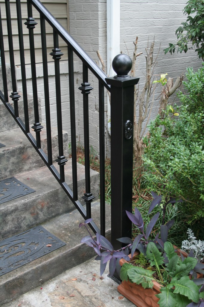 Iron railings birmingham al allen iron works - Exterior wrought iron handrails for steps ...