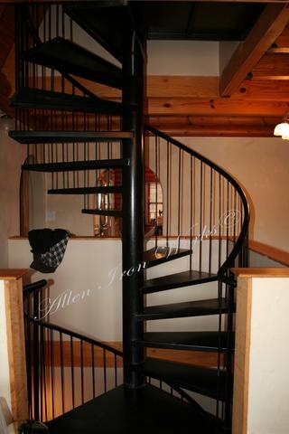 Black Residential Interior Spiral Stairs Birmingham AL