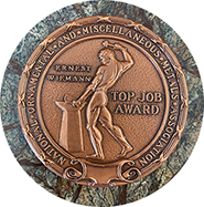 Picture of Bronze Top Job Award Won by Allen Iron Works in National Competition